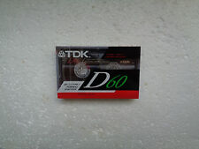 Vintage Audio Cassette TDK D 60 * Rare Europe Version 1991 *