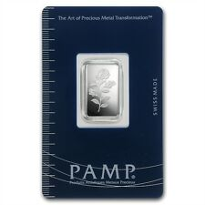 PAMP Suisse Rosa 5 g gram .999 Silver Bar (in Assay)