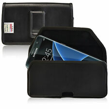 Turtleback Galaxy S7 Edge Leather Pouch Holster Phone Case Black Belt Clip