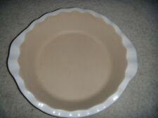 New listing Pampered Chef Stoneware Pie Pan Vanilla New Traditions