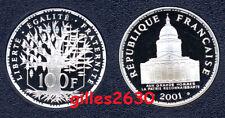 FDC : Splendide 100 francs PANTHEON argent 2001 BE neuve