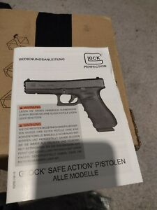 Glock genuine operation instructions new not in English