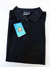 New Johnny Robbin Men Cotton UPF 50+ Short Sleeve Polo Top  T-Shirt Navy Size L