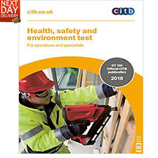 Card Test Book CITB New 2018 CSCS  Health Safety and Environment for Operatives