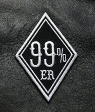 99% ER 99  PERCENTER ANARCHY OUTLAW 3 INCH IRON ON MC BIKER PATCH BY MILTACUSA