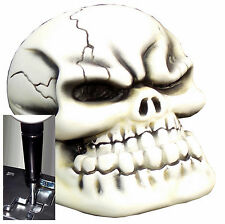 Bone Punchy Skull shift knob for Dodge Jeep auto stick w/ Blk Adapter