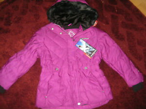 ZEROXPOSUR BIG GIRLS PLUM COLORED WINTER HOODED JACKET COAT NWT XL 16