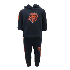 Chicago Bears NFL Baby Infant 2 Piece Hooded Sweatshirt & Pants Set New Tags