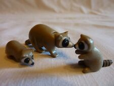 PLAYMOBIL animaux animal nature foret famille raton laveur 1 adulte 2 petits
