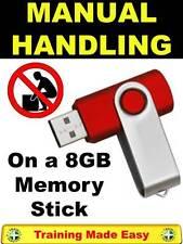 UK Top Manual Handling & Lifting Health & Safety Training 8GB Memory Stick 2017