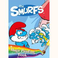 Childrens A4 The Smurfs Cartoon Magic Painting Fun Activity Book