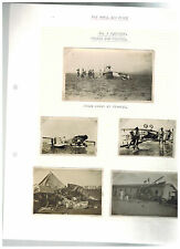 5 Original BW Photographs Royal Air Force Biplane Fighter Crash Middle East Iraq