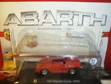 1/43 Abarth Fiat 1000 Biposto Corsa 1970 + Brochure Hachette N 37