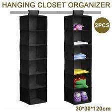2X6 Section Clothes Hanging Organiser Storage Wardrobe Closet Shoes Hanger Bag