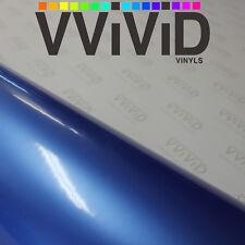 Satin Gloss Metallic Blue 5ft x 90ft Cast Vinyl Roll Auto Vehicle Film Exterior