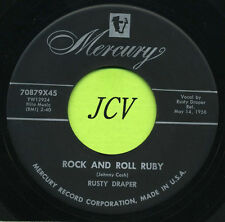RUSTY DRAPER Rock And Roll Ruby / House Of Cards    ROCKABILLY 45 RPM  RECORD
