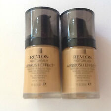 2 x REVLON PHOTOREADY AIRBRUSH EFFECT MAKEUP - 006 MEDIUM BEIGE