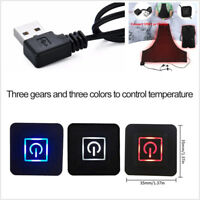 USB Electric Heating Vest Pad Washable 3 Gear DIY Thermal Pad Outdoor Warm Cloth