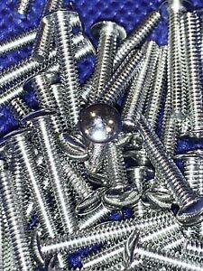 100 SlotLess Screws - Coin Op Locks Payphone Slot Machines 4-40  3/4 inch