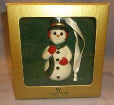 "Wedgwood Porcelain Snowman Ornament In Box! Vgc! 4 3/8""H"