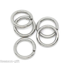 500×  Stainless Steel Open Jump Rings 7mm Dia. Findings 7mm×1mm