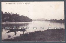 VARESE GOLASECCA 07 Fiume TICINO al PIGHIROLO - BARCA Cartolina viaggiata 1921