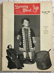 Spinning Wheel Antiques Magazine December 1964 - Christmas Dorflinger Glass VTG