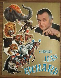 Programme cirque Jean RICHARD 1969 - circus cirque zavatta