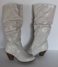 Cliffs by White Mountain Women's Petal White Knee High Boots Size 8.5M