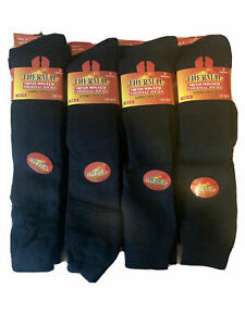 3/6/12 Pairs Mens Thermal Socks Long Hose Winter Warm Thick Outdoor Work Boot