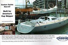 CUSTOM YACHTS Next 57 Yacht ADVERT 2003 Advertisement Custon Yachts New Zealand