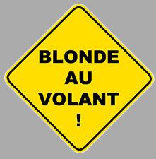 BLONDE AU VOLANT HUMOUR 12cm AUTOCOLLANT STICKER AUTO (BA021)