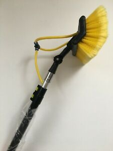 12FT Window Cleaning Pole Brush, Window Cleaner Equipment, Water Hose/Fed
