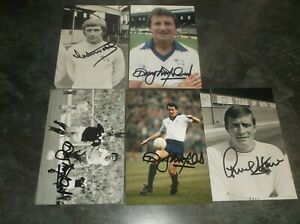 Signed Derby County Player Photographs x 6