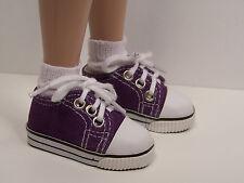 "Purple Canvas Tennis Doll Shoes For 14"" Kish Chrysalis Lark Raven Piper (Debs)"