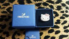 RARE grandi dimensioni NUOVE ORIGINALI SWAROVSKI Hello Kitty Pois Anello RRP £ 145!!!