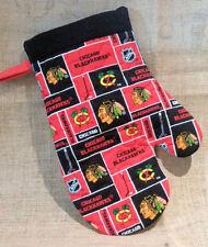 New listing Chicago Blackhawks Bbq - Kitchen Oven Mitts - Handmade -Unisex Heat Resistant -