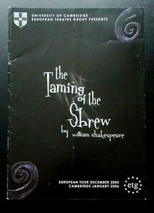 The Taming Of The Shrew programme University of Cambridge European Th Gr. 2005-6