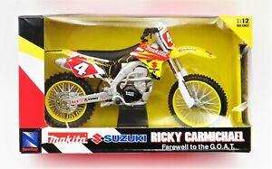NewRay Toys Makita Suzuki RM-Z450 2007 1:12 RICKY CARMICHAEL DIE-CAST G.O.A.T.