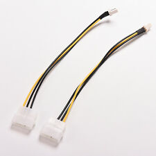 2X 4-Pin Molex/IDE to 3-Pin CPU/Case  Fan Power Connector Cable Adapter 20cm E&P