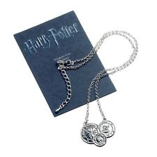 Official Harry Potter Gringotts Coin Necklace Pendant Silver Plated Jewellery