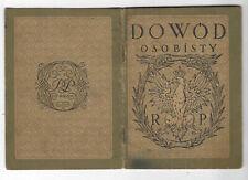 POLAND PASSPORT GERMAN VISA 1928
