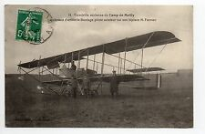 AVIATION AUBE CPA 10 CAMP DE MAILLY escadrille Lieut. artillerie Bordage farman