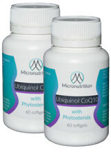 Ubiquinol 100mg Bioactive CoQ10 with Phytosterol 800mg&Fish Oil 1000mg 2 x 60cap