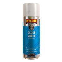 x2 Hycote® 400ml Gloss White Aerosol Car Spray Paint Tough Acrylic Formula