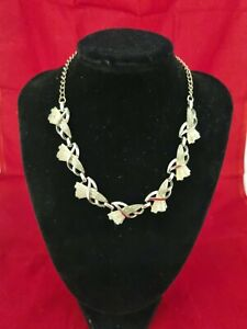 Vintage Coro Jewelcraft  Necklace silver Hook Clasp