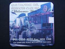 GAYTHORNE RSL SERVICES CLUB 534 SAMFORD MITCHELTON 33554655 SMALL BLUE COASTER