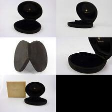 Zenith box etui ecrin uhrenbox black velvet and silk shell vintage NOS (lot 66)