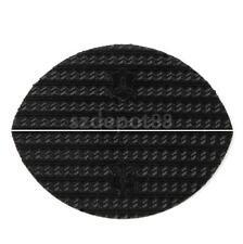 Pair Anti-slip Glue on Rubber Heel Tips Soles DIY Shoes Repair Supply S 3mm