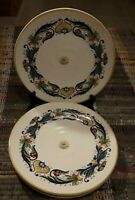 """New Ceramica Cuore -Decal- Ceramic SET of 3 Dinner Plates 11 1/8"""" Made In Italy"""